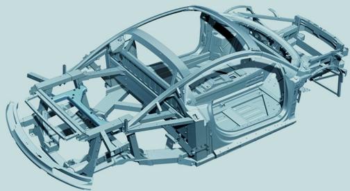 Audi R8 spaceframe